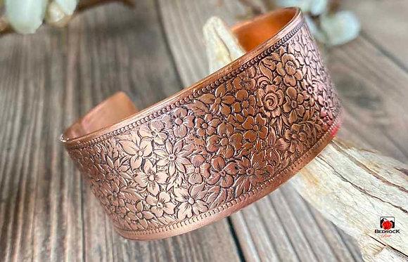 Cranston Wire Factory Copper Floral Cuff