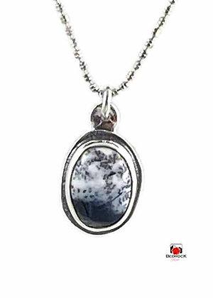 Petite Merlinite Sterling Silver Pendant