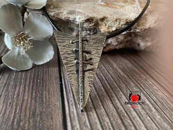 Spectacular Forged Arrow Pendant