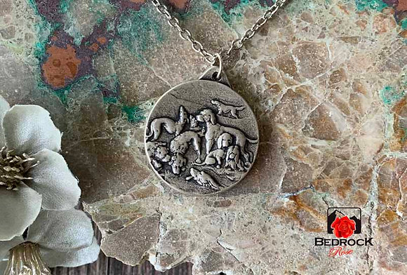 All Dogs Go To Heaven Silver Pendant