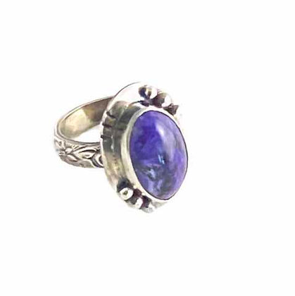 Spectacular Charoite Ring