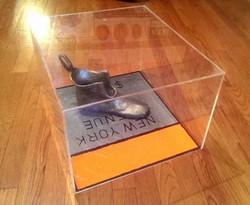 Cast Iron Shoe with Original Board