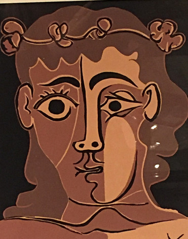 """Picasso, """"Man with Crown'"""