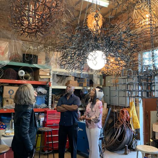 Studio visit and custom pieces