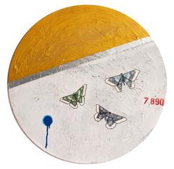 3 Butterflies Gold 14 carat gold paint