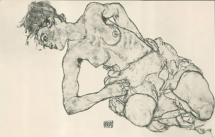 Egon Schiele-Kneeling Female Semi-Nude.jpg