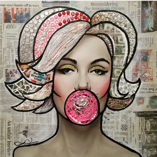 """Marilyn with Bubble"""