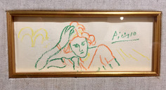 """Picasso, """"Lady Leaning on Elbow"""""""