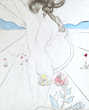 """""""Nude with Garter""""  Suite: Les Hippies"""