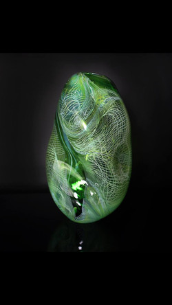 Green Teal String Theory Vase
