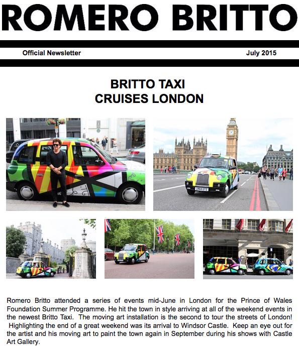 Romero Britto in London