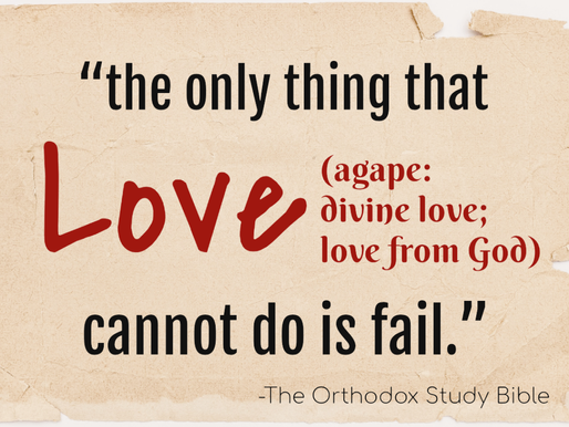 Love Never Fails?