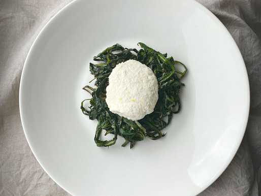 Summer on a Plate: Homemade Ricotta with Wild Dandelion Greens
