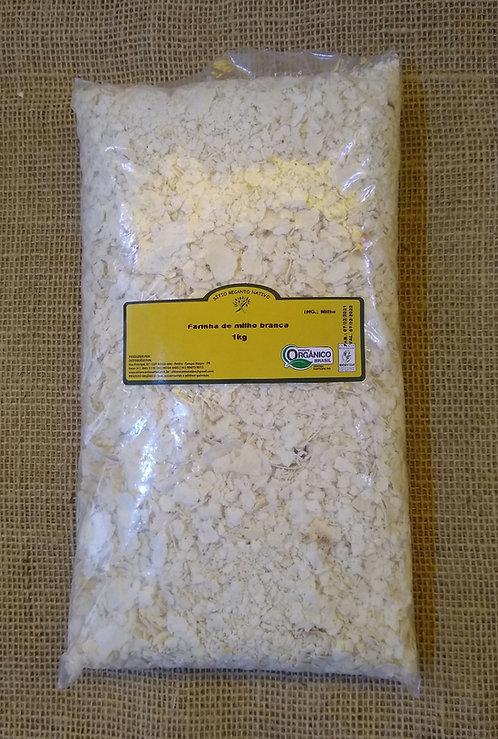 Farinha de milho orgânica branca (500g)