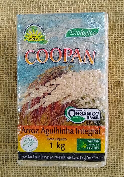 Arroz Agulhinha integral orgânico (1kg)
