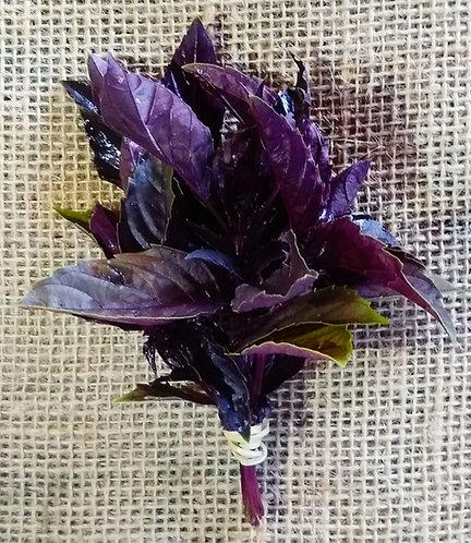 Manjericão roxo orgânico (maço)