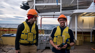 Scientists on board the RV Bluefin in Ba