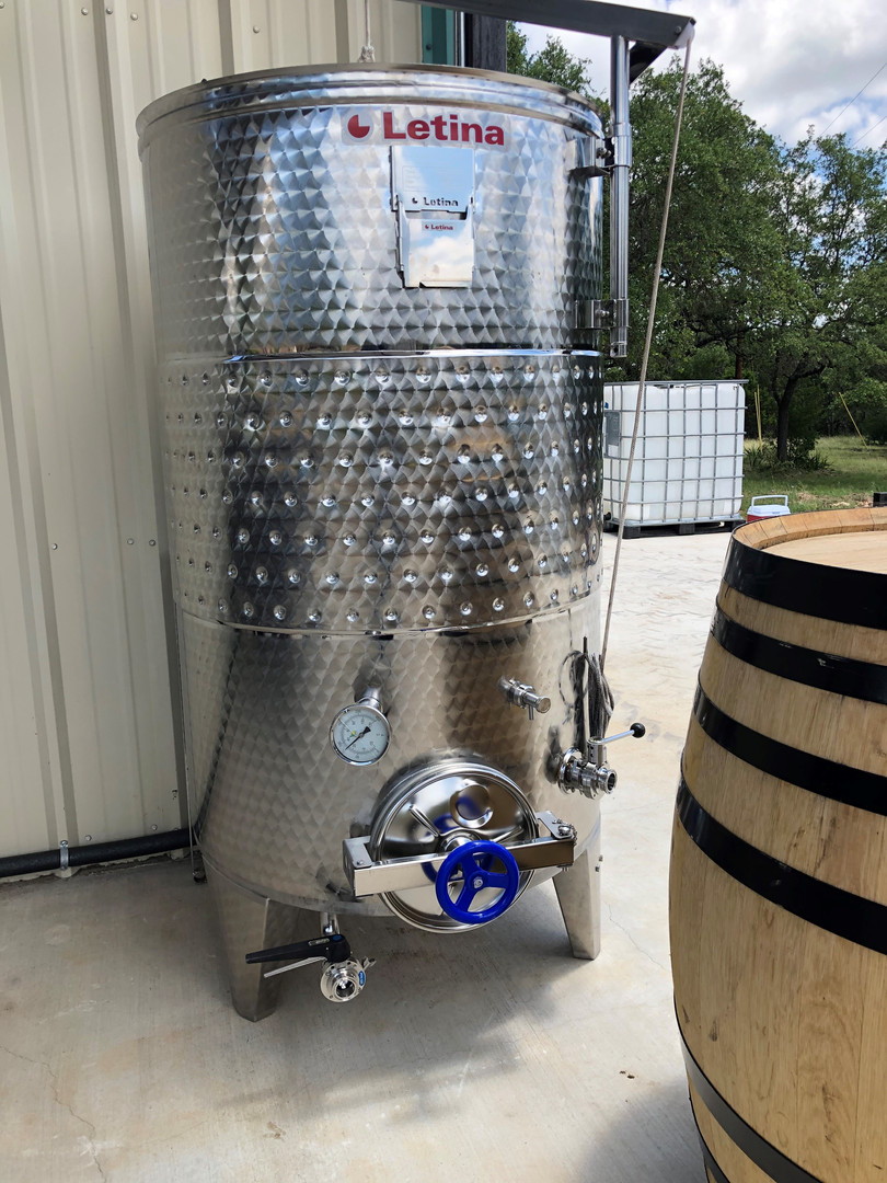 Fermentation Vat with Glycol Chiller Winery