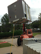Industrial Roof Top Air Conditioning Install serving Operating Room