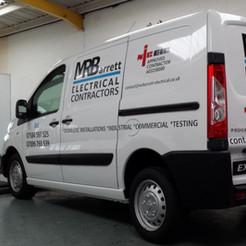MRB Electrical contractors van