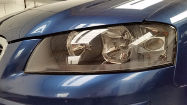 Before Fly Eye applied to headlight