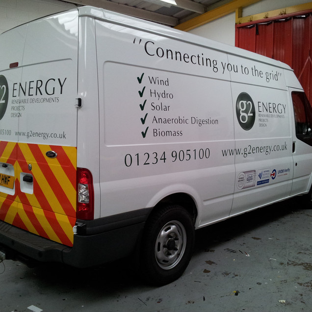 Transit Van Signage with Chapter 8 Chevr
