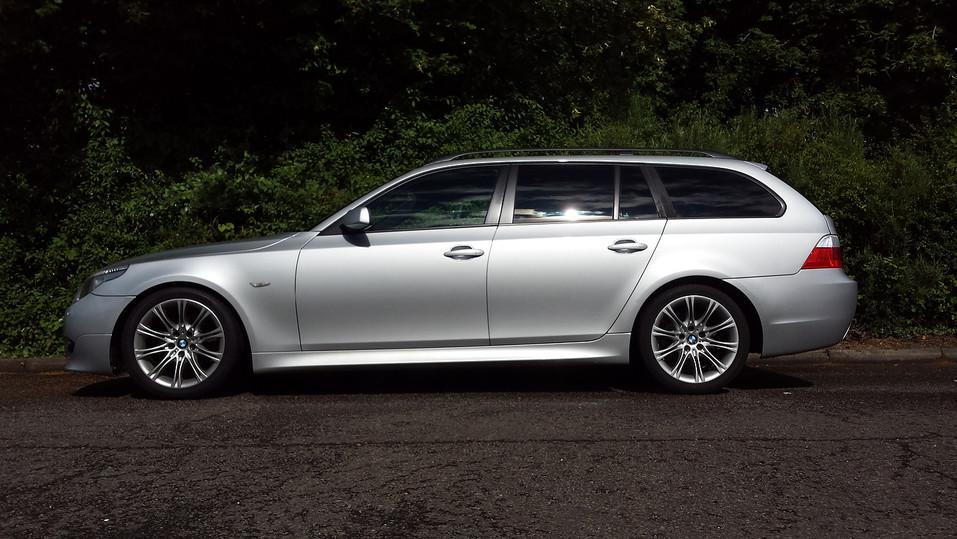 BMW 5 Series Estate With Dark Smoke Rear