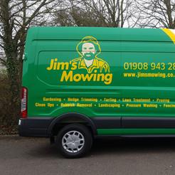 Jim's Mowing van