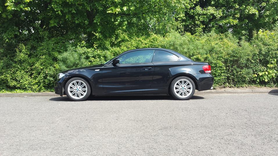 BMW 1 Series With Dark Smoke Window Tint