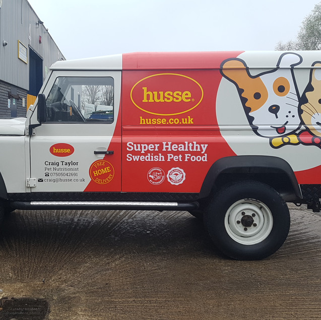 husse signage and partial wrap