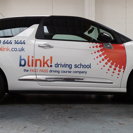 Blink driving school car graphics side.j