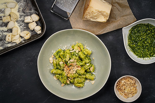 Gnocchetti Sardi, Wild Garlic Pesto, Toasted Almonds