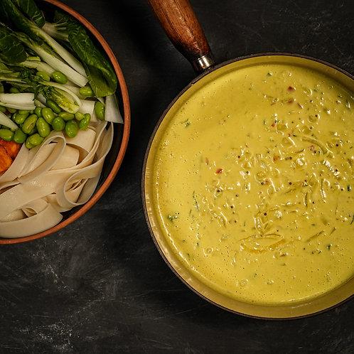 Turmeric & Coconut Laksa, Rice Noodles & Greens