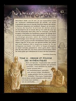Mathéopolis Tome 0 - 4ème de couverture