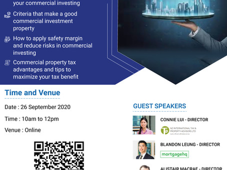 Transitioning into Commercial Property Masterclass - 26 Sept at 10am to 12pm