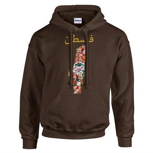 Mens Palestine Flower Hoody