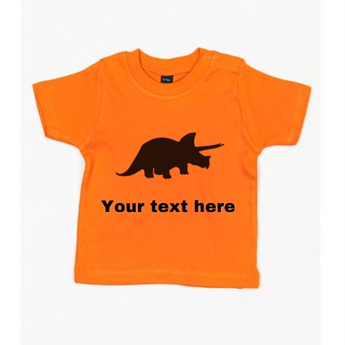 Personalised Triceratops Baby Tee
