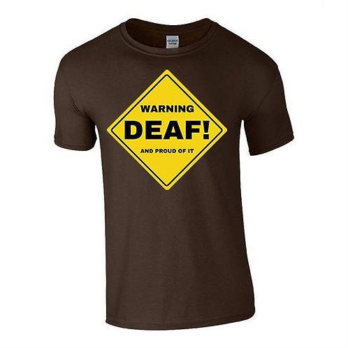 Warning Deaf Tee (Mens/Kids)