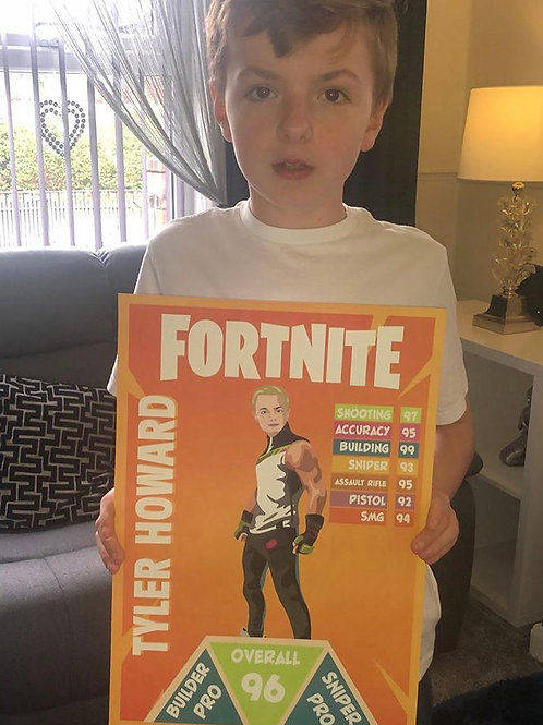 Copy of Personalised FORTNITE Card (Normal pic)