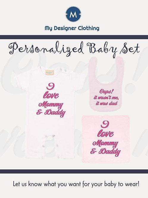 Personalised Baby Set