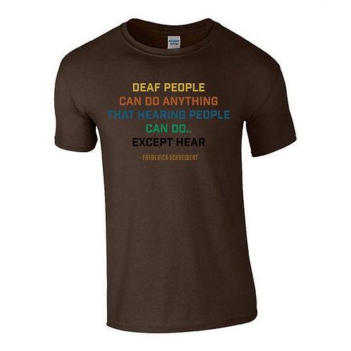 Deaf People Tee (Mens/Kids)