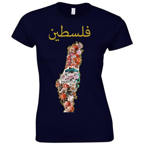 Womens Palestine Flower Tee