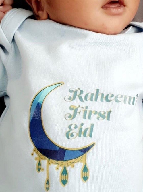 Personalised First Eid Baby Grow