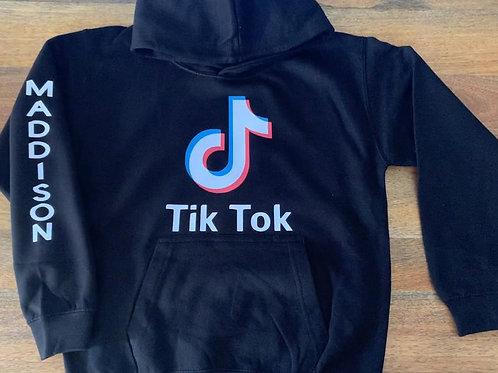 Personalised kids tik tok hoodie