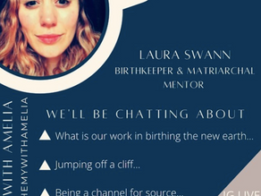 S1. E14 Birth, trauma, mentoring and forging your own path with Laura Swann