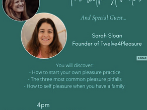 S1. E1 Pleasure practice, communication and common pitfalls with Sarah Sloan