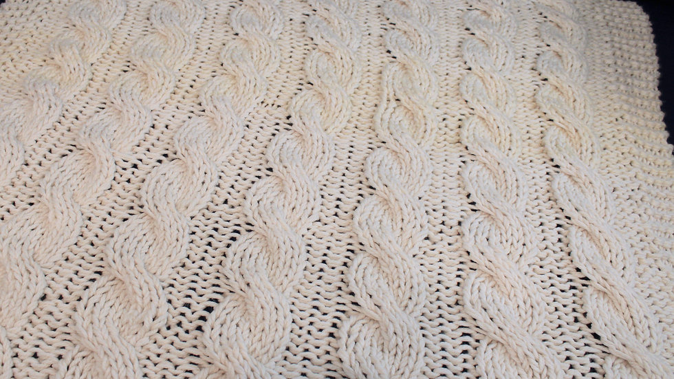 Chunky Knit Cable Blanket