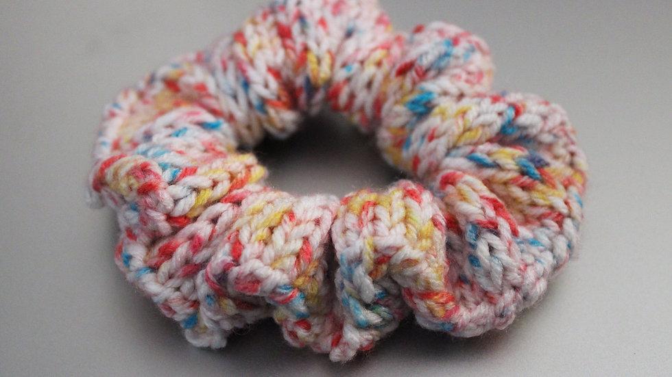 Rainbow Knit Scrunchie