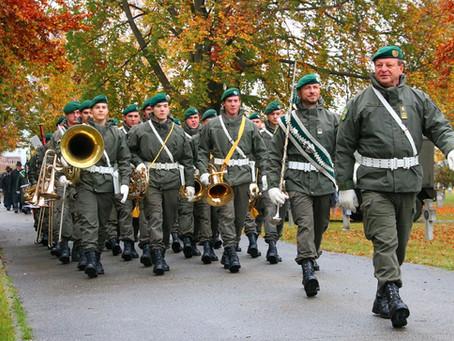 Corona - Krise: Steirische Militärmusik im Grenzeinsatz