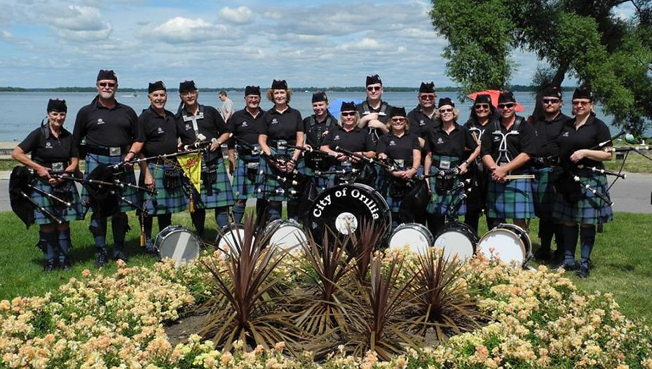 orillia pipe band, piper